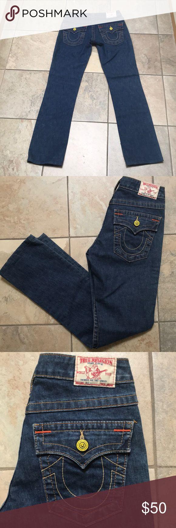 True Religion Straight Cut Jeans Excellent Used Condition True Religion Straight Cut Jean in Medium Wash True Religion Jeans Straight Leg