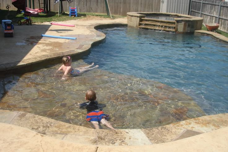 Beach entry pool jenn o 39 s pool build dfw area pools spas forum gardenweb pools - Beach entry swimming pool designs ...