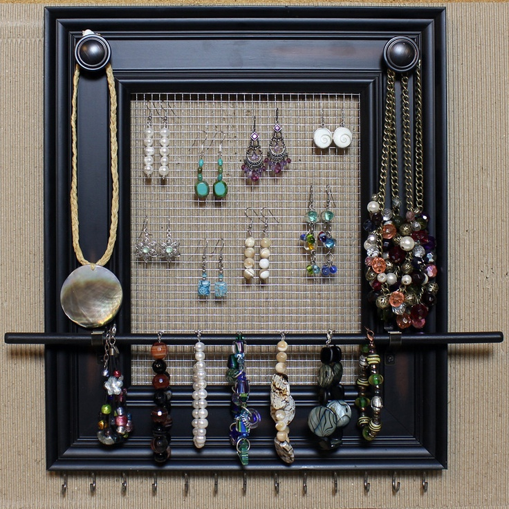 52 best Framed Jewelry Organizer images on Pinterest Craft Good