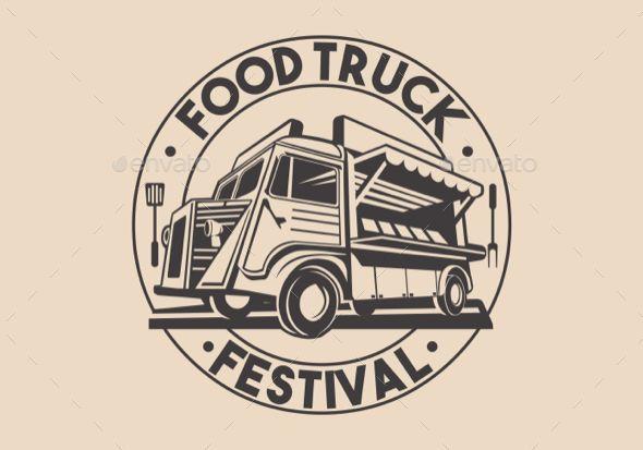 Restaurant Delivery Service Food Truck Vector Logo