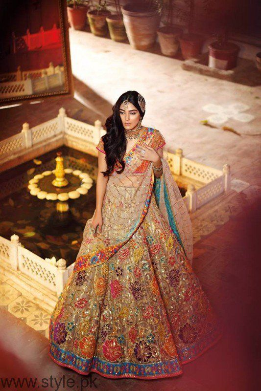 Maya Ali in Bridal Mehndi Dress by Nomi Ansari