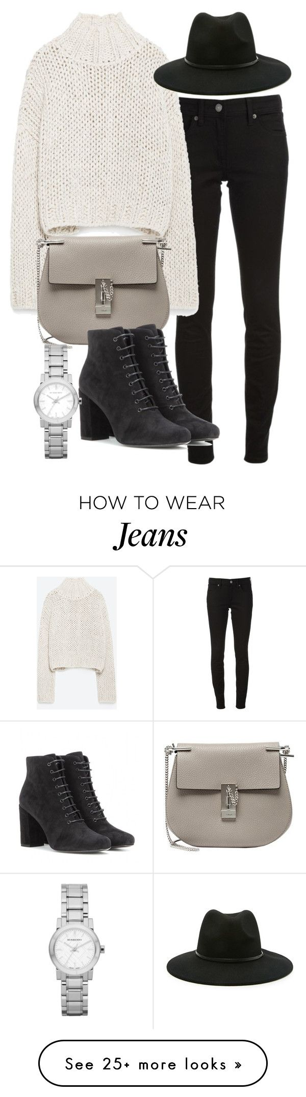 """""""Untitled #19396"""" by florencia95 on Polyvore featuring Burberry, Zara, Forever 21, Chloé and Yves Saint Laurent"""