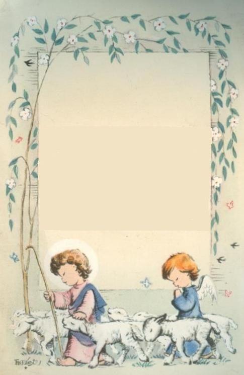 Estampa de Comunión de Joan Ferràndiz, año 1959