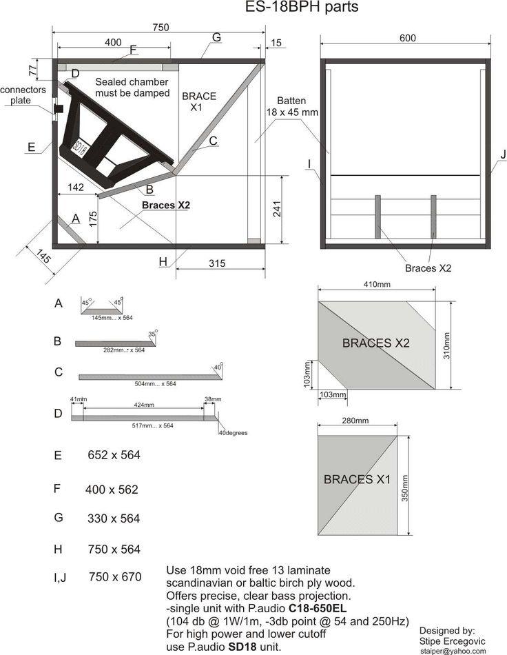 322 Best Images About Speaker Plans On Pinterest Horns Subwoofer Box Design And Diy Speakers