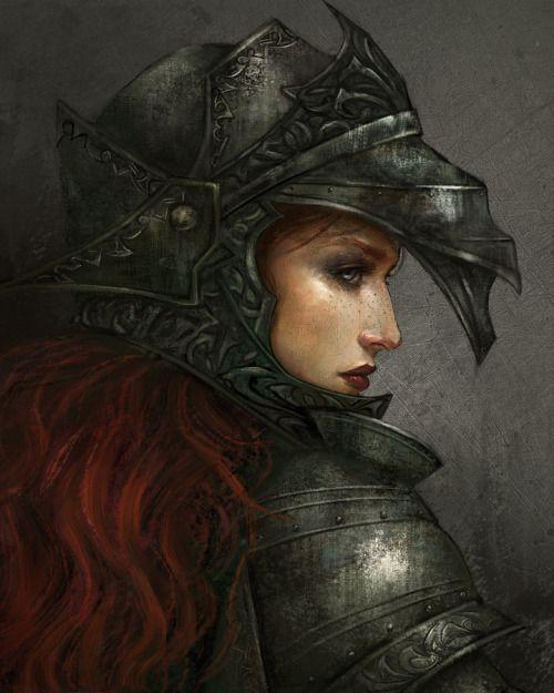 Radiante aunque de opaca armadura, la concepción deUtako Oelze.