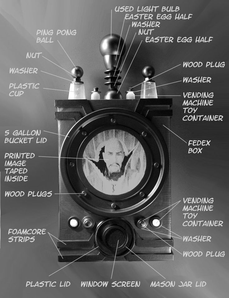 Maybe this will help put you on the right track.  It's from Dave Lowe's blog (davelowe.blogspot.com).  He's a super creative guy that uses a lot of everyday items to make amazing props.Here's another post from his blog that might be helpful:http://davelowe.blogspot.com/2009/08...ing-cheap.html
