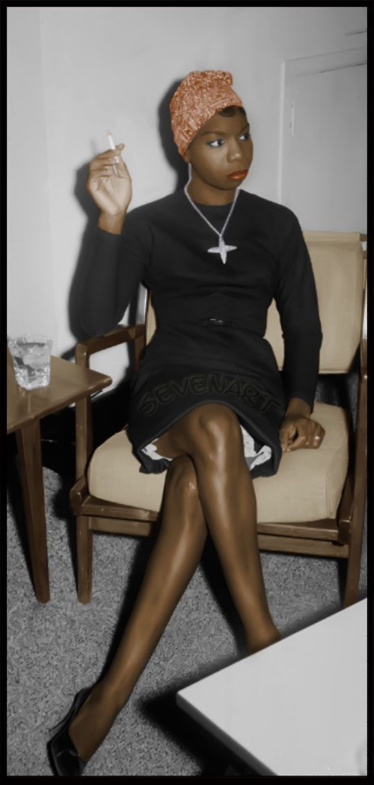 Nina Simone in the 1960s. Just put two of her songs on my iPod. Biddy Craft
