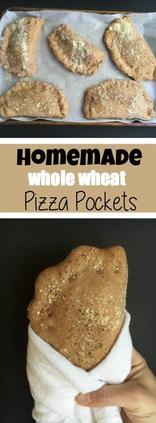 Whole Wheat Pizza Pockets. Great to freeze for later, and totally kid friendly.