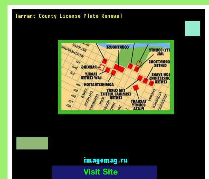 Tarrant county license plate renewal 151505 - The Best Image Search