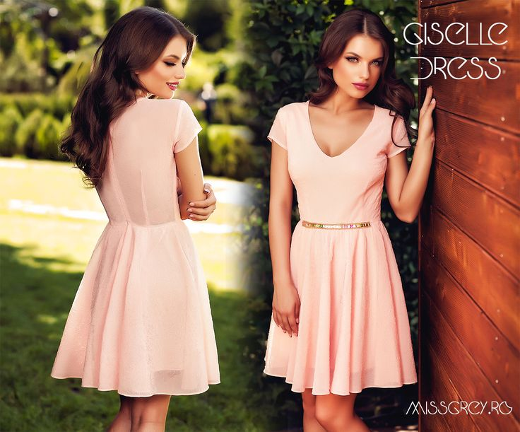 The short day dress in shades of dusty pink makes a lovely outfit for a romantic dinner this summer. https://missgrey.ro/ro/rochii/rochie-giselle/349?utm_campaign=colectie_iunie2&utm_medium=rochie_giselle&utm_source=pinterest_produs