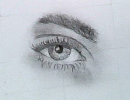 Inspiration from a Burberry Advertisement. Cara Delevingne's Eye. Pencil Drawing.