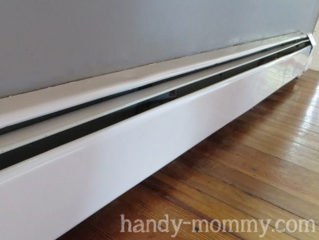 Repainting baseboard heater covers handy mommy diy for Paint baseboard heater