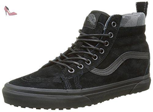 Vans sk8-Hi, Sneakers Hautes Mixte Adulte, Noir (Mte Black/Black/Camo), 45 EU - Chaussures vans (*Partner-Link)