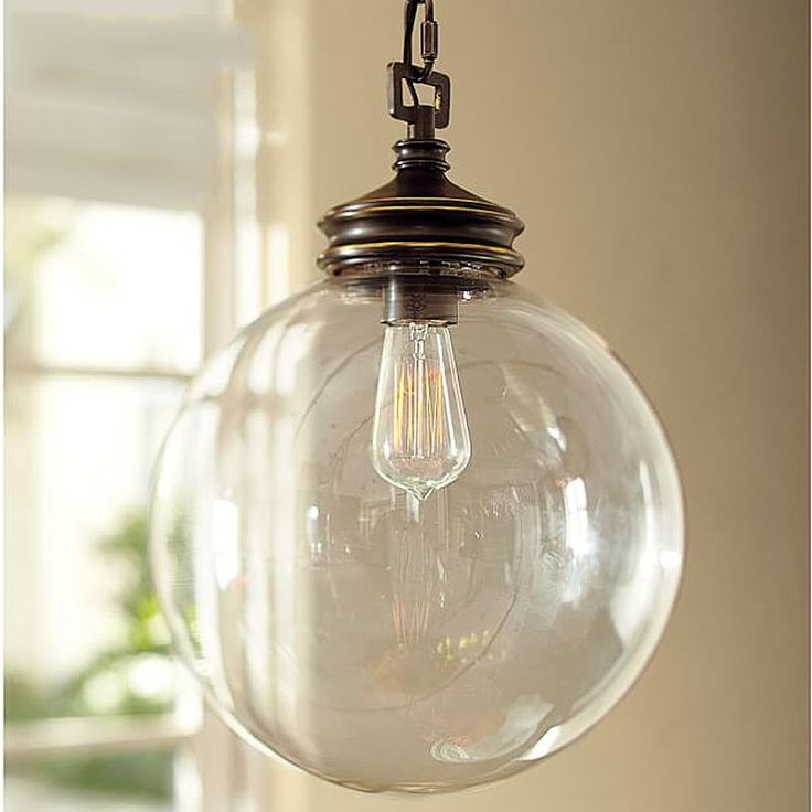 Industrial Vintage Chandelier Pendant Light Ceiling Lamp Glass Cage ball 25cm
