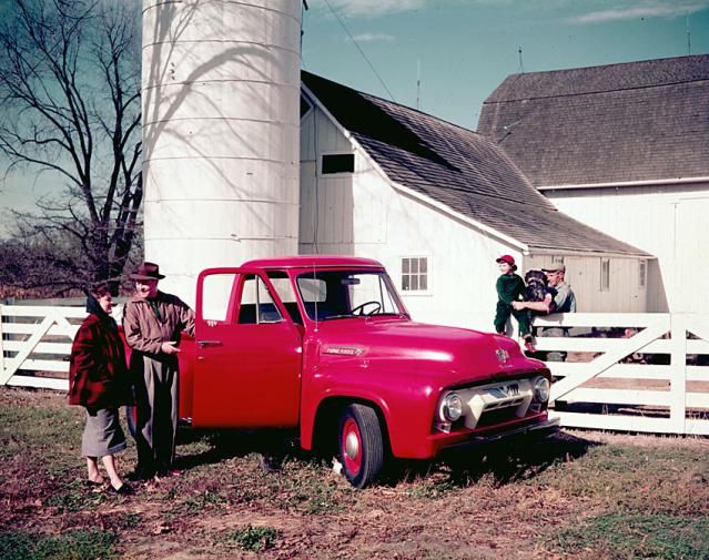 The History of Ford F-Series Trucks: Ford F-Series Pickup Trucks: 1953-1956