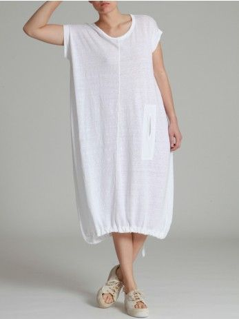 KNITTED LINEN DRESS - JACKETS, JUMPSUITS, DRESSES, TROUSERS, SKIRTS, JERSEY, KNITWEAR, ACCESORIES - Woman -