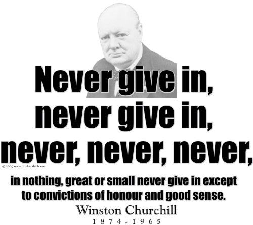 Winston Churchill Quotes Beginning Of The End: ThinkerShirts.com Presents Winston Churchill And His
