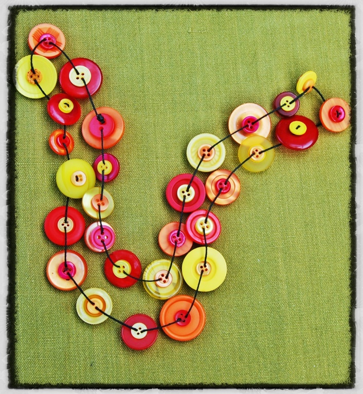 Necklace made of buttons