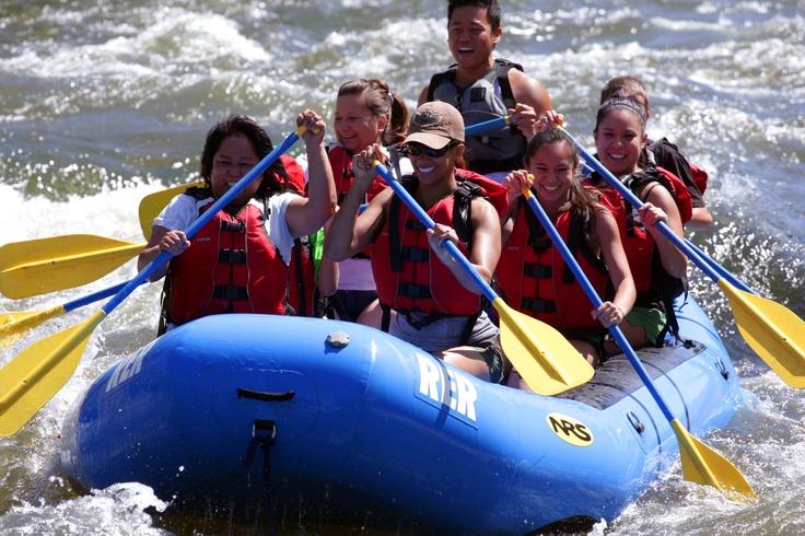 River's End Rafting at Kern River in Bakersfield.  So FUN!