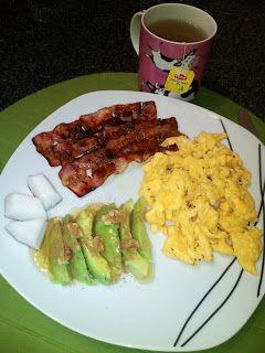 Abril de Sonho: Pequeno almoço #11 - Ovos mexidos com bacon e cois...