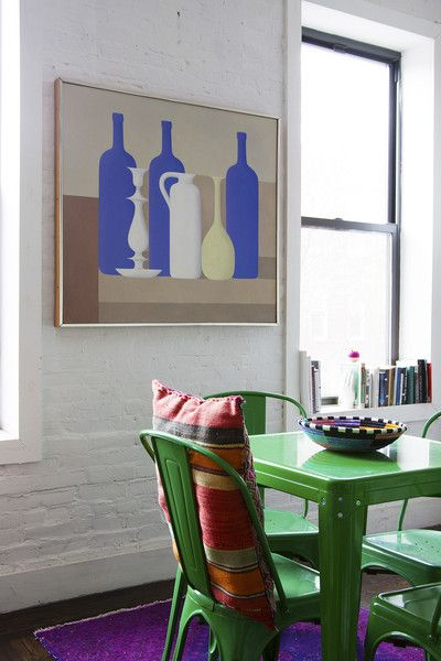 Eclectic Modern Dining Room: The dining area of Aeflie's apartment in Brooklyn, New York.