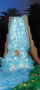 Cardboard Waterfall, Lighted Luau Waterfall, Lighted Waterfall