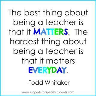 Inspirational educational quotes for teachers in elementary and special education