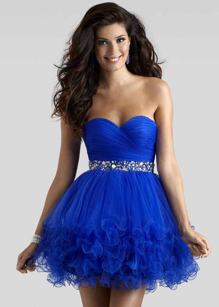 Clarisse 2303 -Hot Pink Strapless Prom Dresses Online