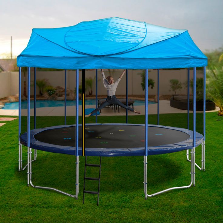 Enjoy your Oz Trampolines Trampoline all year around, with our uniquely designed 16ft Trampoline and Roof.  Available in bright, fun colours, they are perfect for providing shelter and shade and ensure you enjoy a fun and enjoyable bouncing experience everyday.