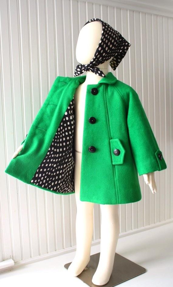 Kelly Green car coat by littlegoodall
