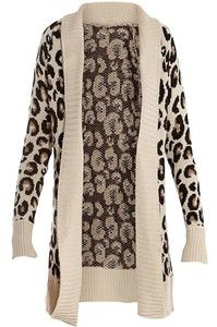 Ladies Size 8 26 Plus s XXXL Leopard Womens Knitted Long Cardigan Jumpers Tops | eBay