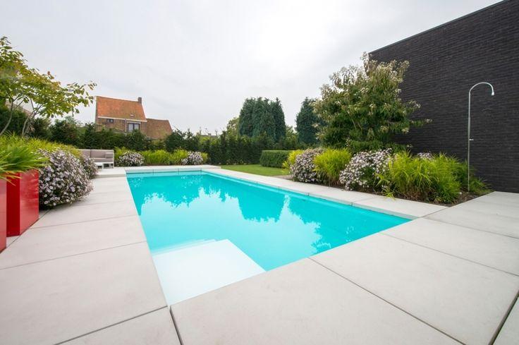 17 beste idee n over kleine tuin zwembaden op pinterest kleine zwembaden kleine achtertuin - Aangelegde tuin ideeen ...