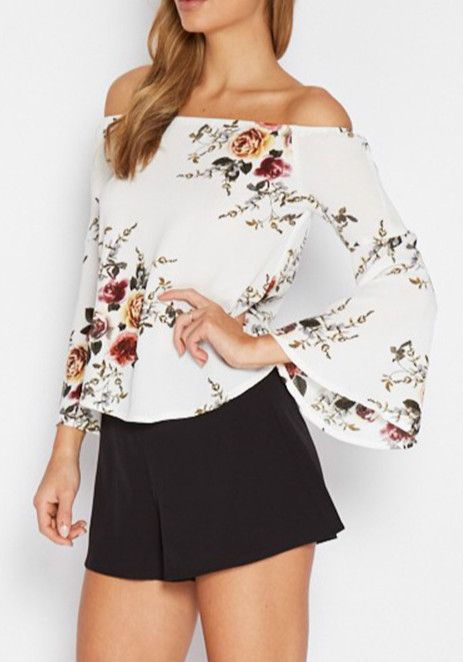 Optimize your comfort and beauty with this blouse. The off the shoulder design and floral print makes you modest! Own it now!