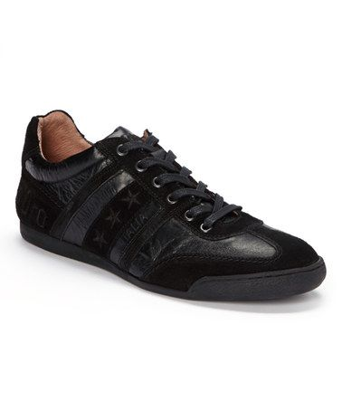 Love this Black Tre Stelle Leather Sneaker by Pantofola d'Oro on #zulily! #zulilyfinds milun work
