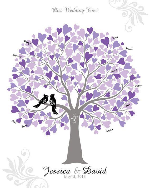 Wedding Love Birds In Tree