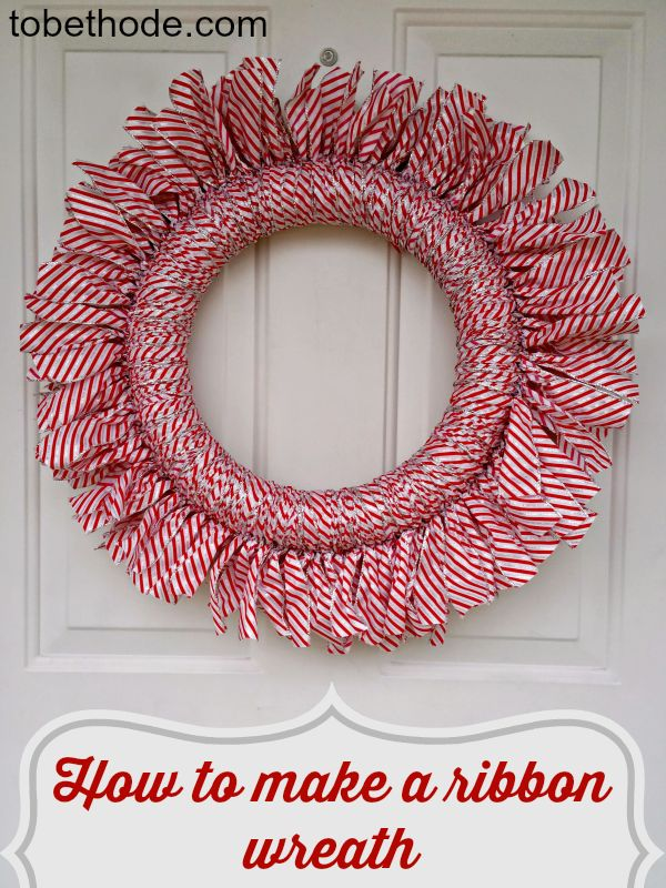 Looking for an inexpensive gift or decoration for your own home? This easy ribbon wreath is perfect for any occasion!