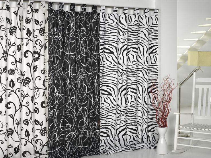 Mejores 10 im genes de tejidos para cortinas en pinterest - Cortinas en blanco y negro ...