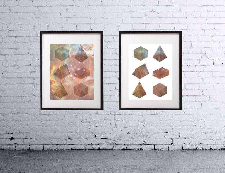 Galaxy design framed prints