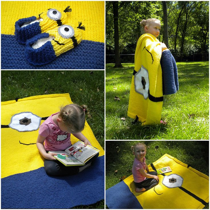 Crochet Minion Blanket & Slipper Set: free patterns