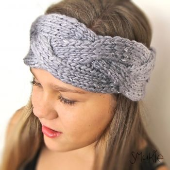 Smukie   Accessories   Scarves   Hand knitted headband. Warm headband. Head wrap. - Handmade Emporium