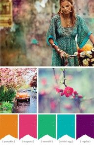 bohemian color palette - Google Search