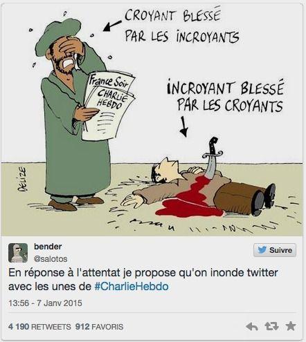"""""""JeSuisCharlie"""": la solidarité s'exprime sur les réseaux sociaux #jesuischarlie #charlieHebdo"""