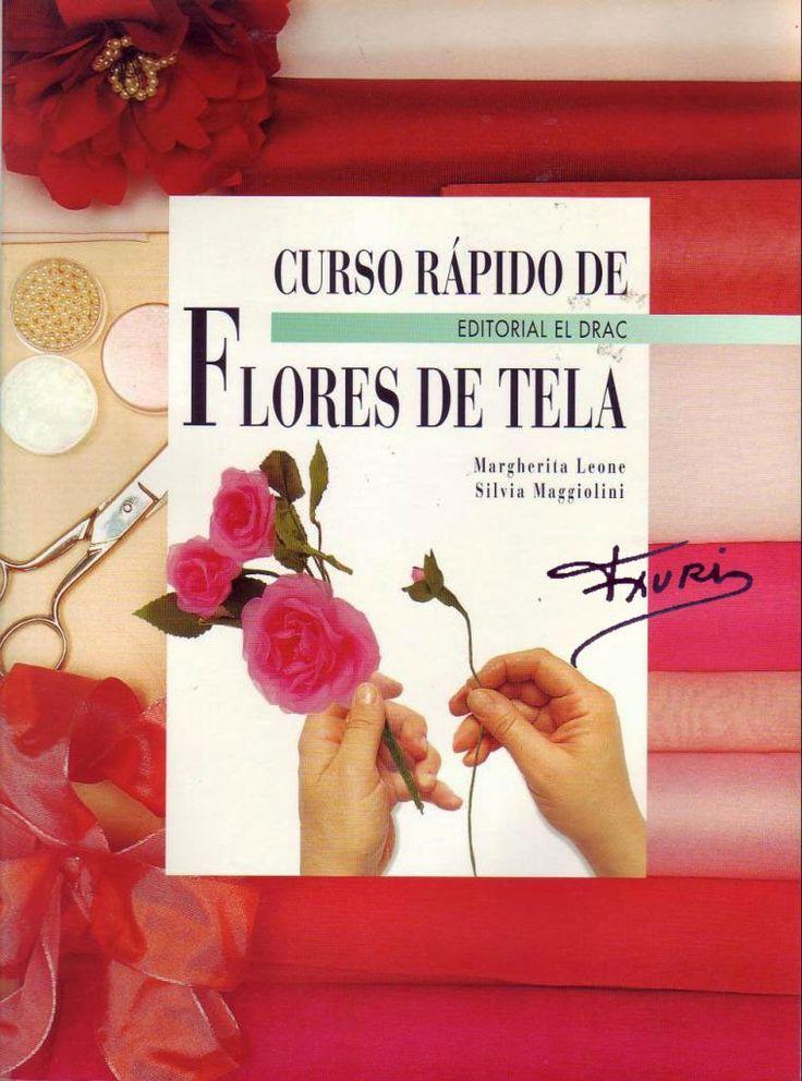 Curso flores de tela paso a paso revista flores en - Manualidades en tela paso a paso ...