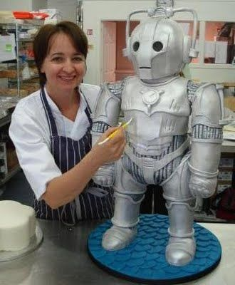 It's a cake. A cyberman cake.  I wouldn't even know where to start...