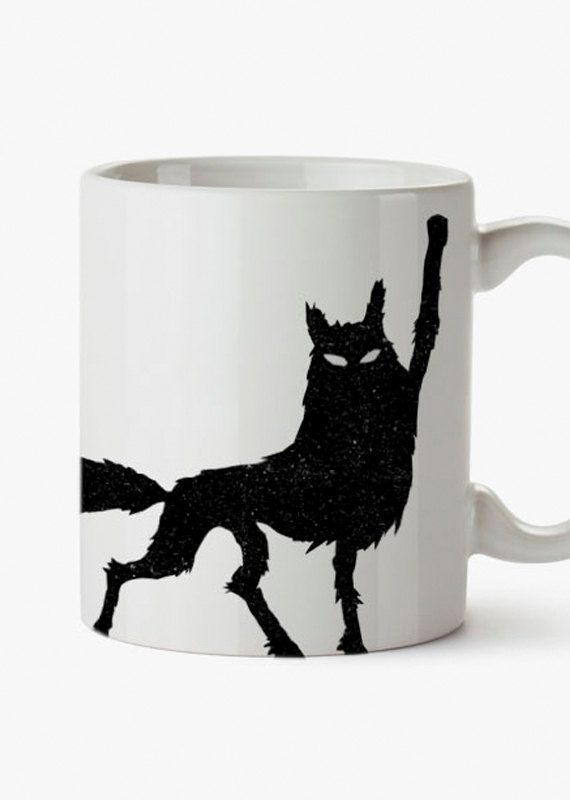 Fantastic Mr Fox Mug. Wolf. Good luck out there https://www.etsy.com/listing/206729818/fantastic-mr-fox-wes-andersons-mug
