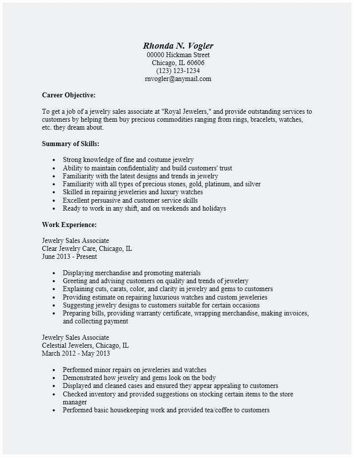 Lovely 25 Sugestion Sample Resume For Jewelry Sales Associate Jewelry Sales Sales Resume Examples Sales Jobs