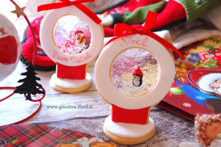 come realizzare dei biscotti di vetro- globo con la neve | Ginestra ::: blog per cuori golosi