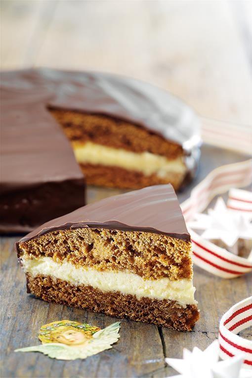Honningkage med smørcreme : Med denne kageopskrift får du en fantastisk julekage. - Se de lækre opskrifter fra Dr. Oetker.