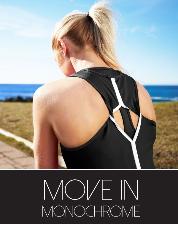 Move in Monochrome with our striking black and white active wear for Spring.