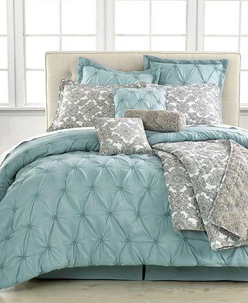 Jasmine Blue 10-Pc. California King Comforter Set | macys.com